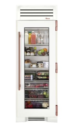 "I designed a custom 30"" Glass Door Refrigerator Column on the True Residential website!"