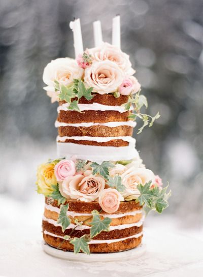 Obsessed with this wedding cake: http://www.stylemepretty.com/canada-weddings/2014/05/12/snow-blush-bridal-inspiration/ | Photography: Nadia Hung - http://nadiahungphotography.com/