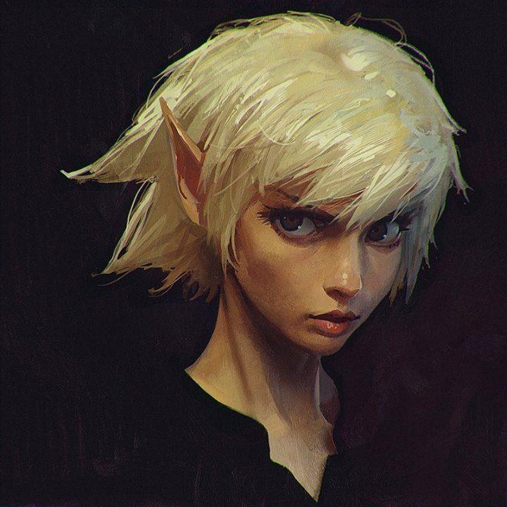 """Long Ears"" by Ilya Kuvshinov* • Blog/Website | (www.kr0npr1nz.tumblr.com) #elf #gnome"