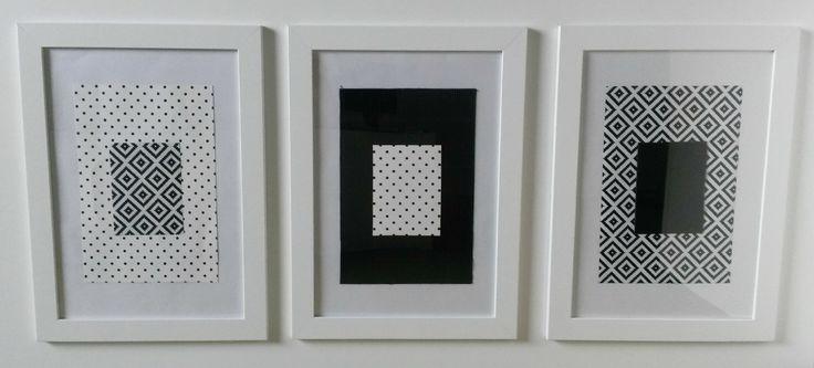 DIY by dekorialove, gallery wall, galeria ścienna, ramki hand made, decor