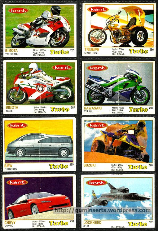 Turbo 261-330, thin frame | My Bubble Gum Inserts Collection