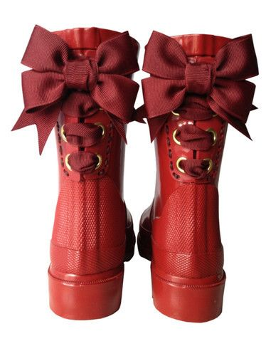 Red Bow Rain Boots