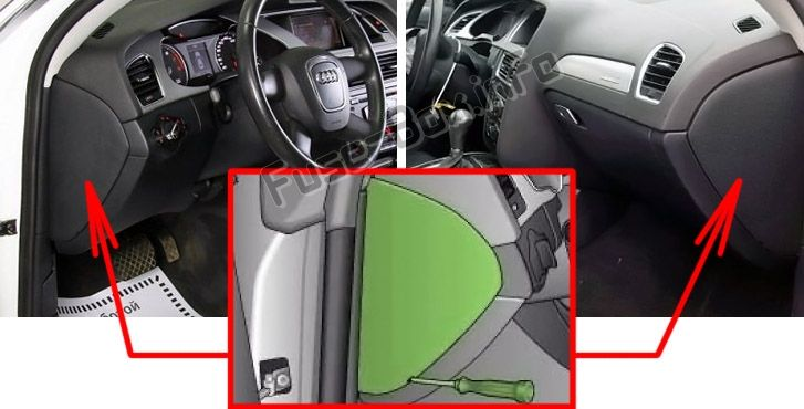 The Location Of The Fuses In The Passenger Compartment