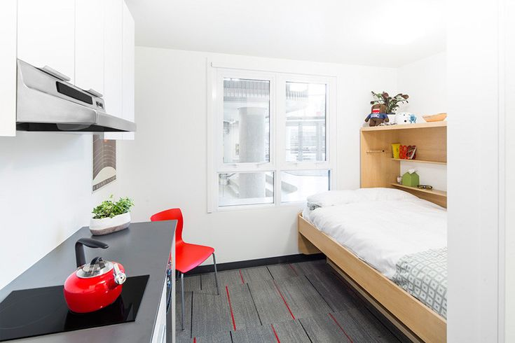 This 140 Square Foot Micro Apartment Is A Prototype For Student Housing Micro Apartment Student House Modern Tiny House
