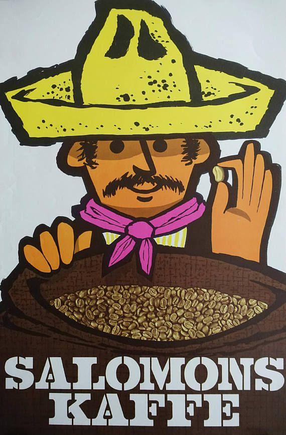 1960s Coffee Advertisement Denmark  Original by OutofCopenhagen