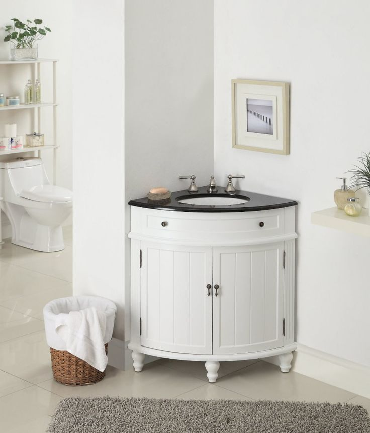 small sink vanity for small bathrooms%0A Find this Pin and more on Bathroom Renovation w Showerless Doors  Bathroom   Corner Bathroom Cabinet In Small