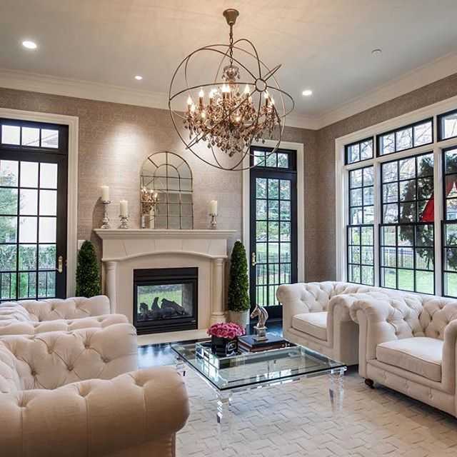 Castlewood is getting ready for the holiday season with this luxurious living room!  #Castlewood #customhome #custombuild #architecture #dreamhome #dreamspace #home #homes #newhome #bethesda #maryland #realestate #livingroom #interiordesign #inspiration #luxury #luxuryhome #homeideas #interior #interiors