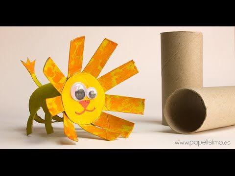 ANIMALES: LEÓN (Manualidades con rollos de papel higiénico) | Manualidades