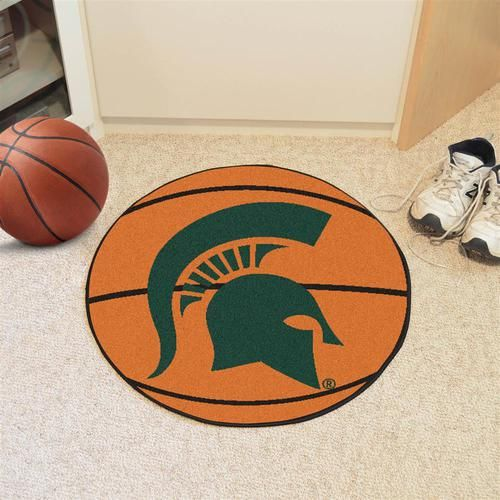 Michigan State University Basketball Floor Rug Mat