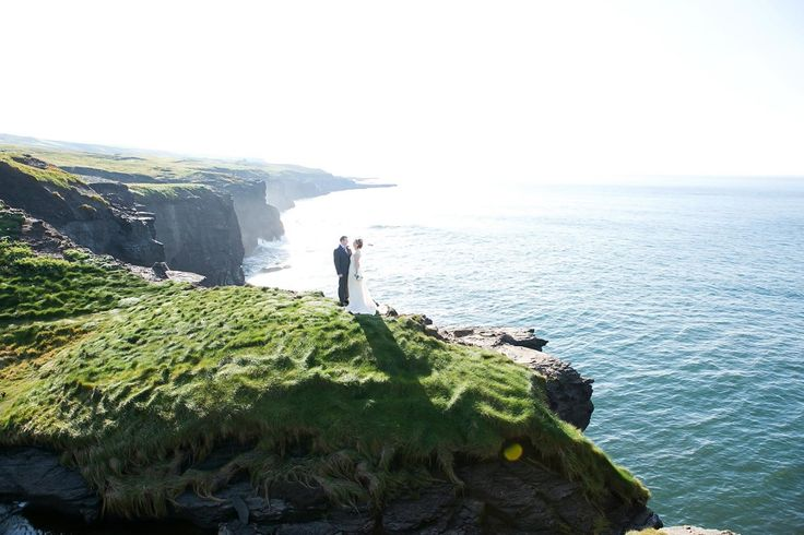 Kris and Jenna, Doolin, Co. Clare. Wedding Photography Cliffs of Moher