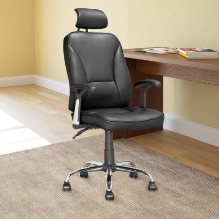 Workspace Executive Reclining Office Chair in Black Leatherette