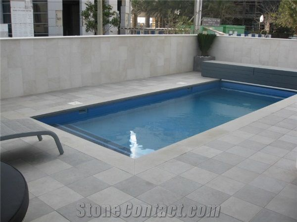 pool coping pavers, jerusalem grey limestone pool coping from
