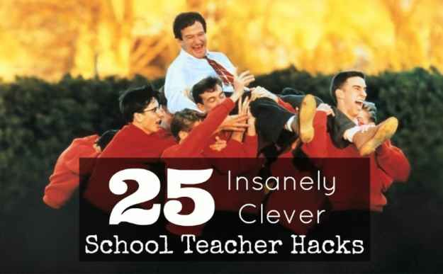 25 Insanely Clever School Teacher Hacks. REALLY awesome list of great ideas for the school year!