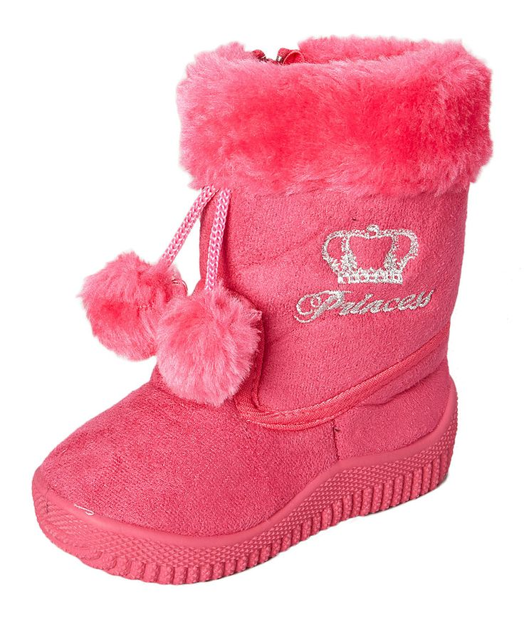 Look what I found on #zulily! Shoe Box Trading Fuchsia 'Princess' Bootie by Shoe Box Trading #zulilyfinds