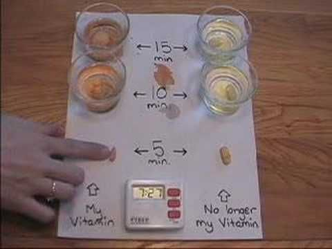 """Nutrilite Multivitamin Demonstration. This is alarming! Consuming """"vitamins"""" that aren't plant based is like eating rocks!"""