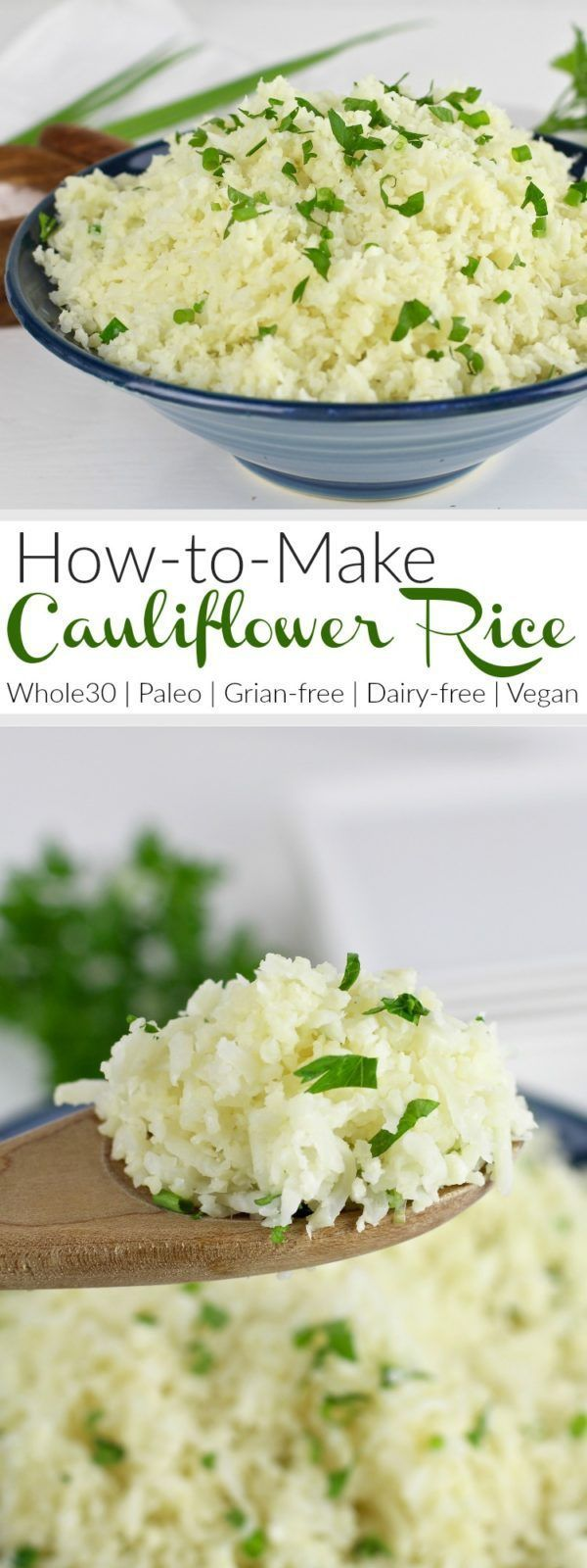 How To Make Cauliflower Rice: A step-by-step photo tutorial | Whole30 | Paleo | Gluten-free | Grain-free | Vegan | therealfoords.com