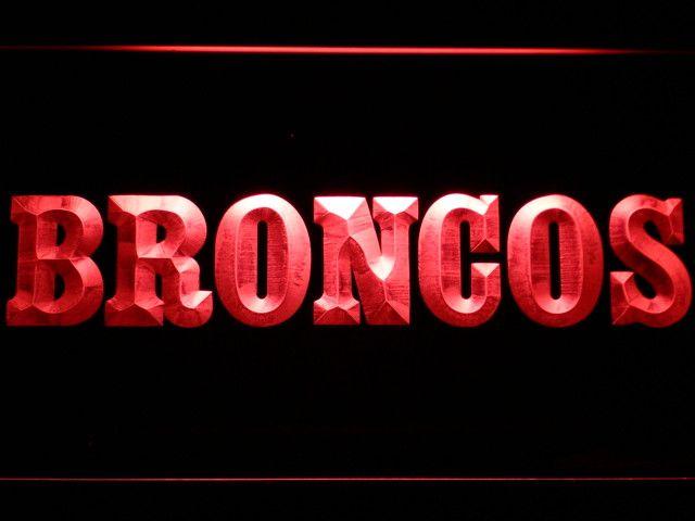 Denver Broncos 1968-1996 Logo LED Neon Sign - Legacy Edition