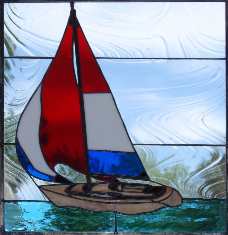 STAINED GLASS SAIL BOAT PATTERN – Patterns & Tutorials