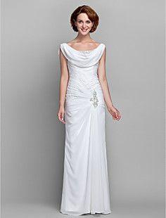 schede / column scoop chiffon moeder van de bruid jurk (6124... – EUR € 148.49
