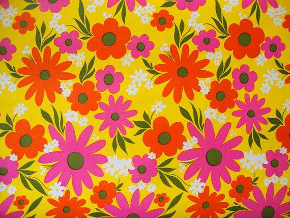 57 best wrapping paper images on pinterest wrapping papers paper vintage 60s hot pink daisy wrapping paper mod bright yellow tangerine orange paper ephemera scrapbook decor mightylinksfo