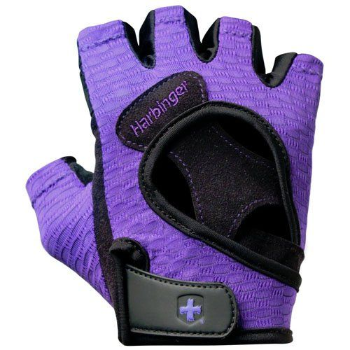 Harbinger Women`s Flex Fit Weight Lifting Gloves, Purple for only $21.59 You save: $3.41 (14%) + Free Shipping