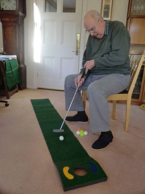 Chair Golf Putting Mat