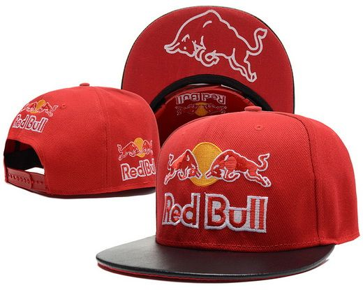 Red Bull Red Snapback Hats Brim Black Leather Under Logo|only US$20.00 - follow me to pick up couopons.