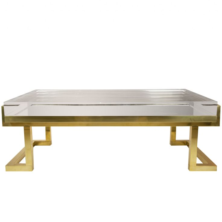 Mies Coffee Table in Natural Brass - 25+ Best Ideas About Lucite Coffee Tables On Pinterest Acrylic