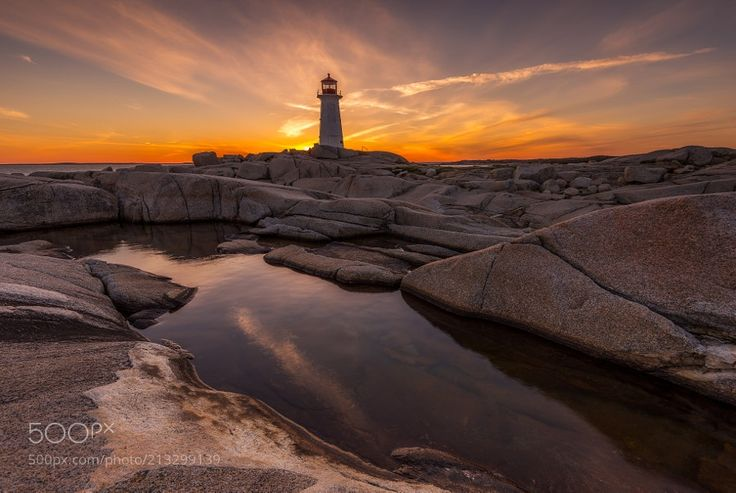 Chasing Light - Here's another take from my trip to Peggy's Cove. When you catch a sunset like this I would say it was worth the 18 hours drive. Have a great day everyone! Cheers!