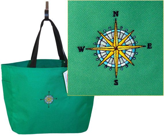 Compass Rose Nautical Sailing Cruise by RKEmbroideryBoutique