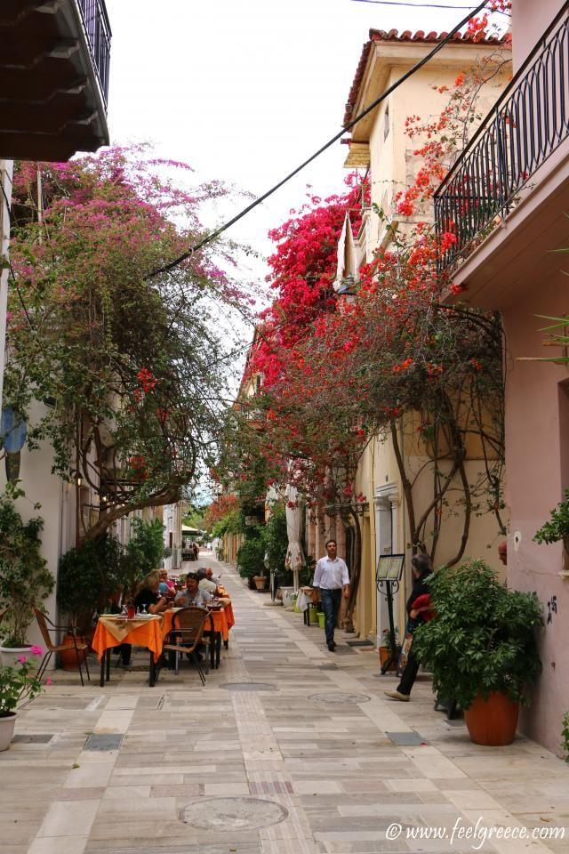 Taverna in a side street; photo from Nafplio, Argolis Region