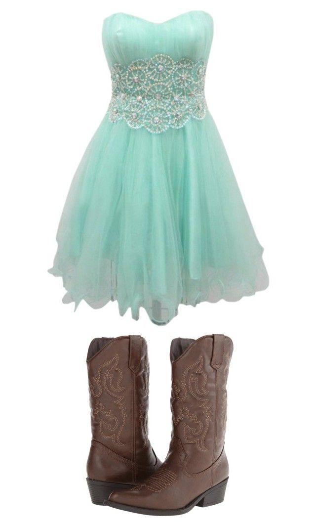 """Country prom dress"" by kpiper123 on Polyvore featuring Madden Girl and country"