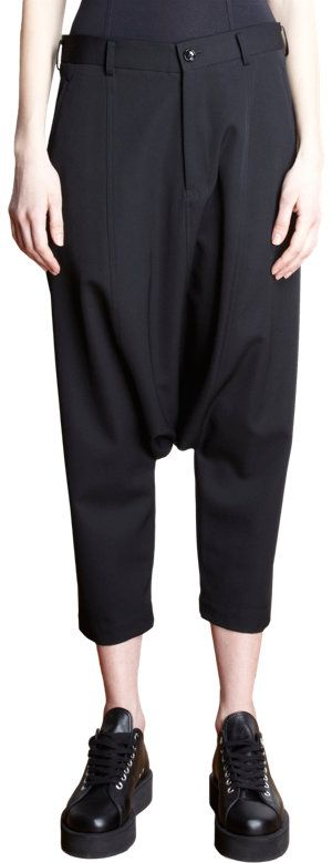 Comme des Garcons Jodpur Trousers at Barneys.com - the contrast between the tailored waist and baggy bottom is interesting
