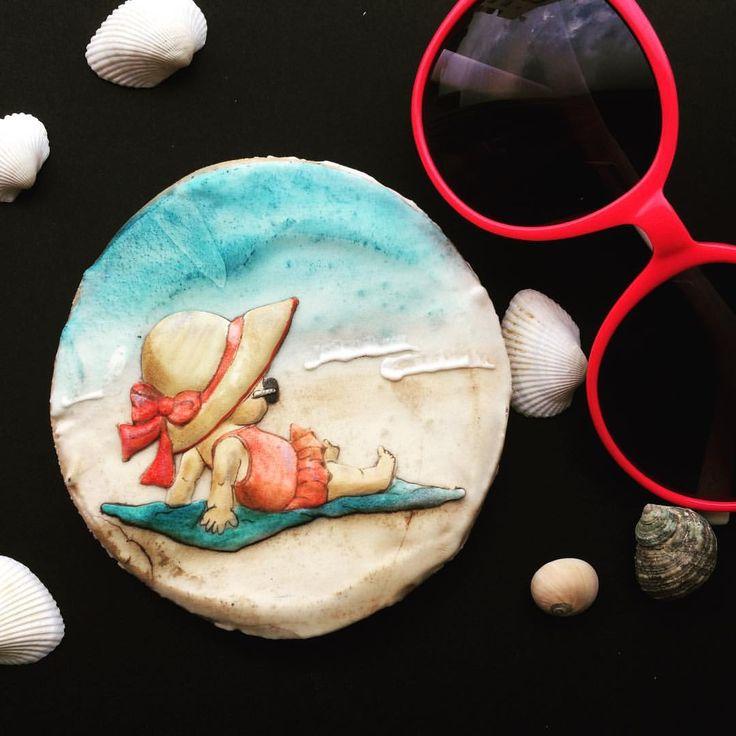 Лето же, море ! Руки в ноги, детей в охапку и на пляж! #пряники #ручнаяработа #имбирныепряники #пряникиимбирные