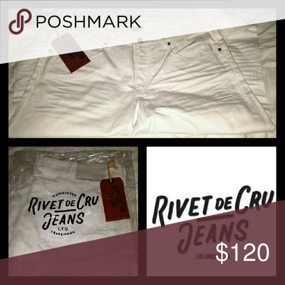 RIVET DE CRU JEANS WHITE *BRAND NEW* SIZE 40 LENGTH 34 RIVET DE CRU  Jeans
