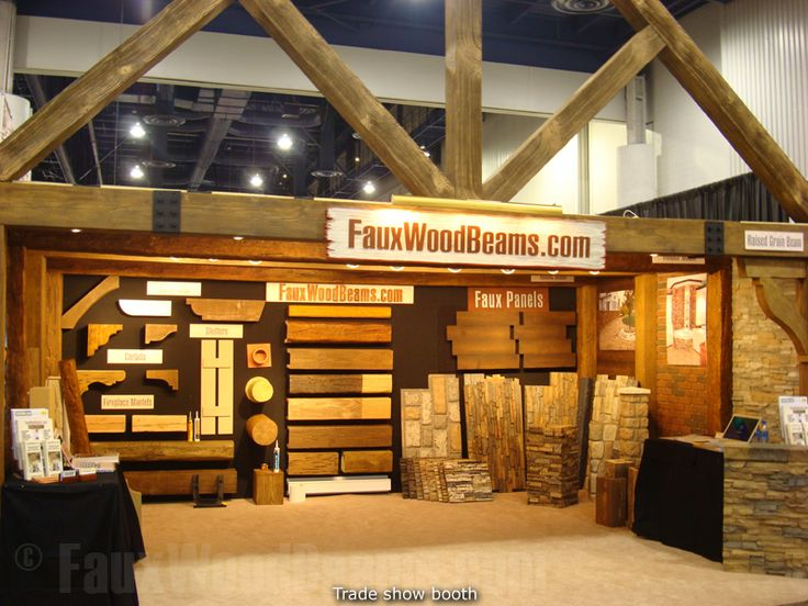 Trade Show Booth Wood Panels : The eye catching detail of fauxwoodbeams ™ trade