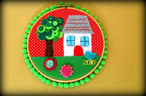Home Sweet Home Hoop Art  Christmas Gouri  New by jvFairytales