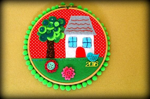 Home Sweet Home Hoop Art  Christmas Gouri  New by jvFairytales