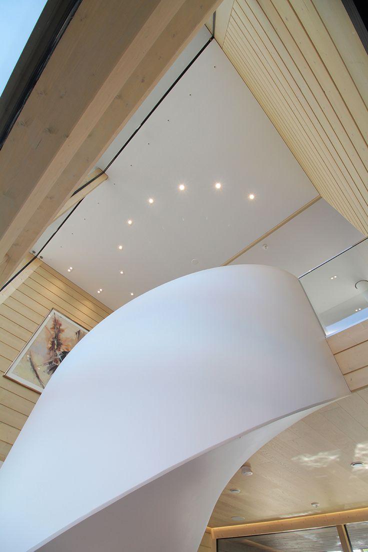 PART1 - The starting point for the entire lighting design of the building was this staircase. By our lighting design we wanted to emphasize the shape of the stairs. Velmu & Spectri LED-lights are perfect solution!Valaistussuunnittelun lähtökohtana tässä talossa olivat nämä portaat. Valaistuksessa haluttiin korostaa näitä muotoiltuja portaita. Velmu & Spectri LED-valaisimet ovat loistava valinta siihen!