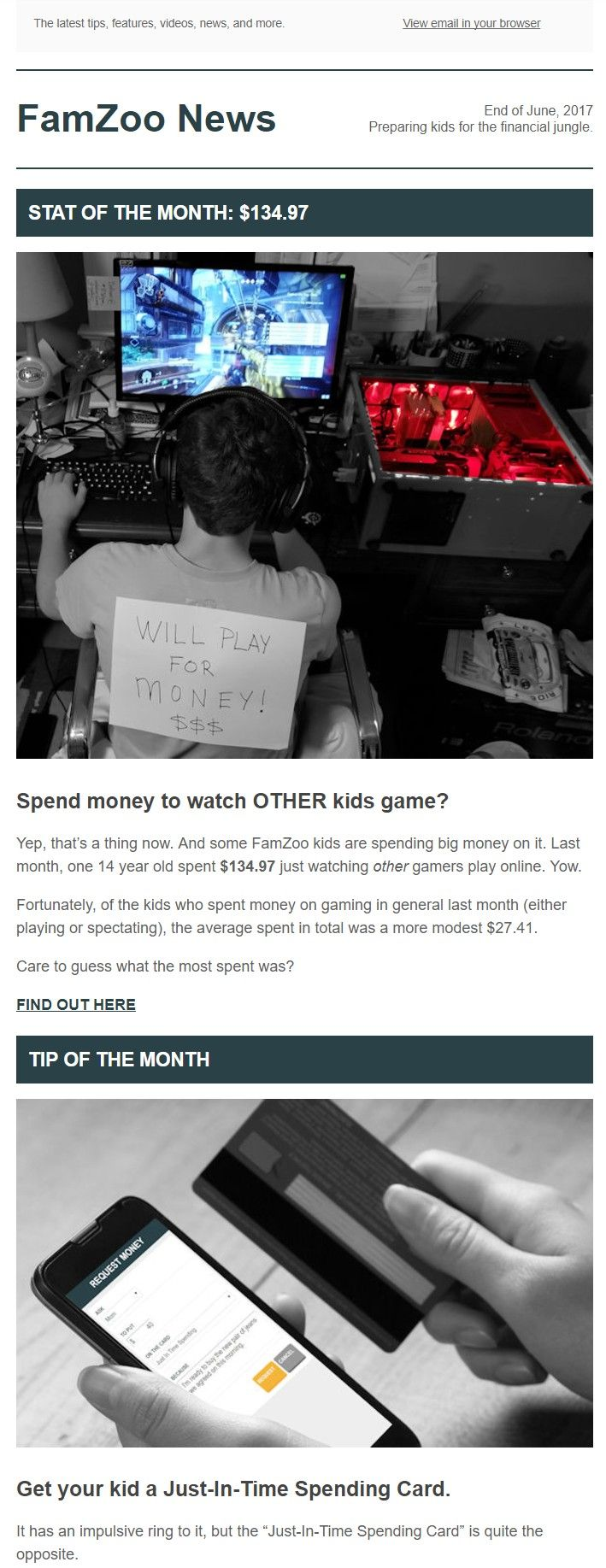 Best Monthly Newsletter Teaching Kids Good Money Habits Images