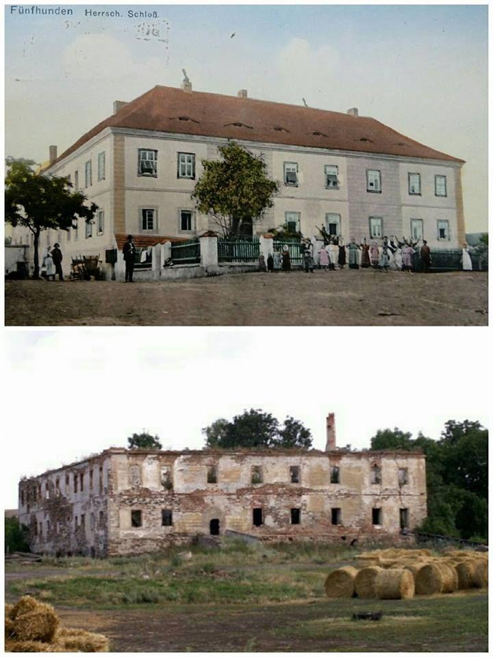 Pětipsy - Zámek - 1910, 2010