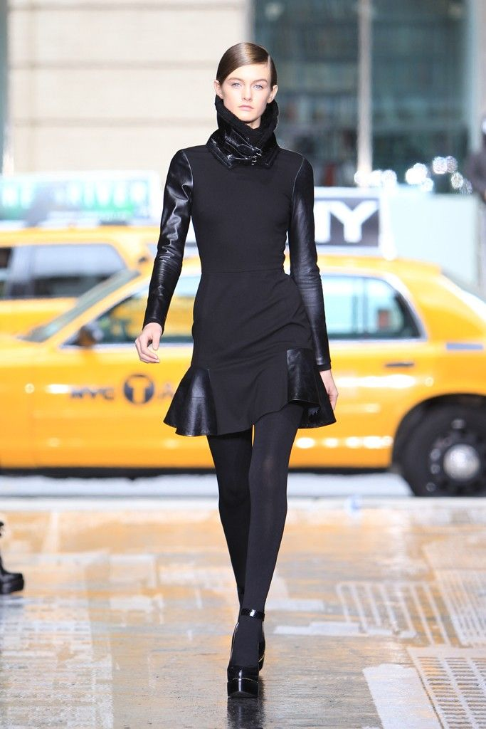 Fall 2012 Trend: Hide and Seek  DKNY RTW Fall 2012