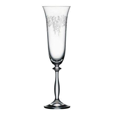 Bohemia Cristal Sektkelche 190ml Romance 6er Set mit edler Pantographie: http://cocktail-glaeser.de/set/bohemia-cristal-sektkelche-190ml-romance-6er-set-mit-edler-pantographie/