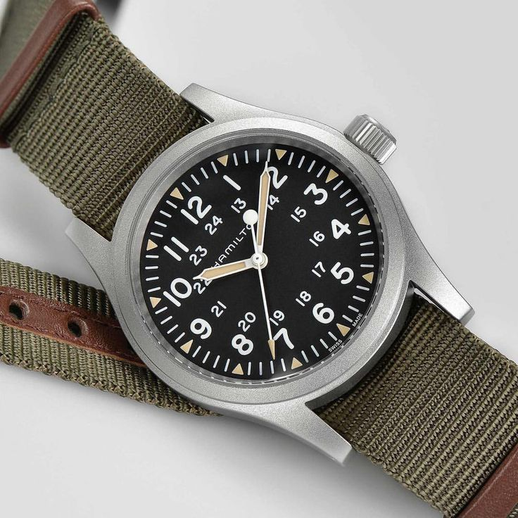 Simplicity at its best: The Khaki Field Mechanical was designed with the no-nonsense, rugged watch wearer in mind. Available worldwide from January 2018, exclusive to the Hamilton boutique in Tokyo now. #hamiltonwatch #americanspirit #swissprecision