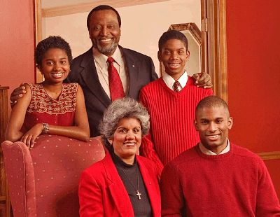 Republican conservative Alan Keyes and his family