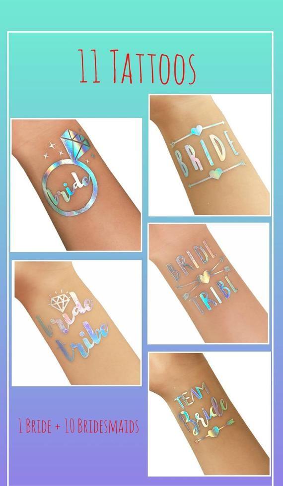 Bachelorette Party Tattoos Rainbow Colors