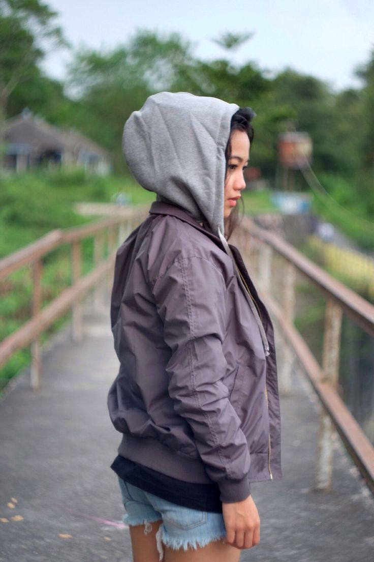 Our bomber jacket with hoodie Hannover. Shop now at www.dashltd.com
