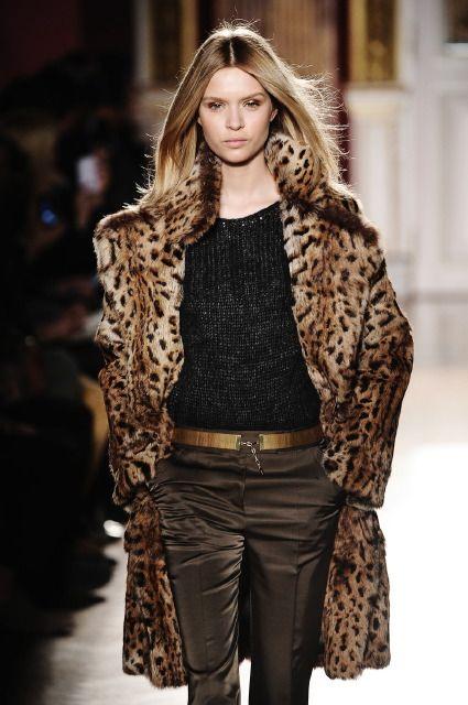 Barbara Bui - Fall 2012-Winter 2013 #furs #fashion #leopardprint