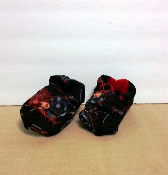 The Avengers: Black Widow Baby Booties One by WarehouseRoyGBiv