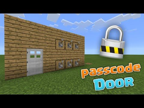 PASSCODE DOOR! - MCPE 0.13.0 Redstone Creations - Minecraft PE (Pocket Edition) - YouTube
